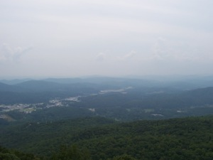 View from Black Rock Mountain State Park visitor center