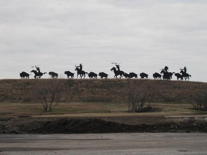 Buffalo Hunt Silhouette
