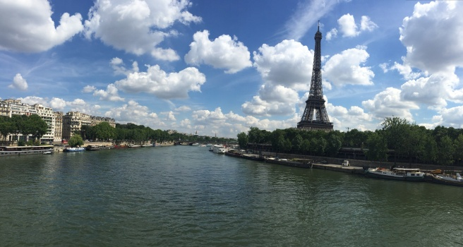 Eiffel Tower and River Seine
