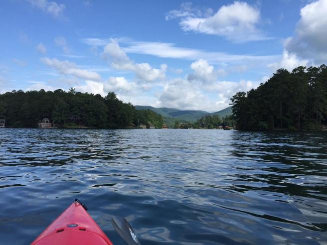 Kayaking on Lake Burton