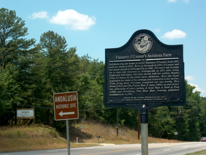 Andalusia historical marker and signs