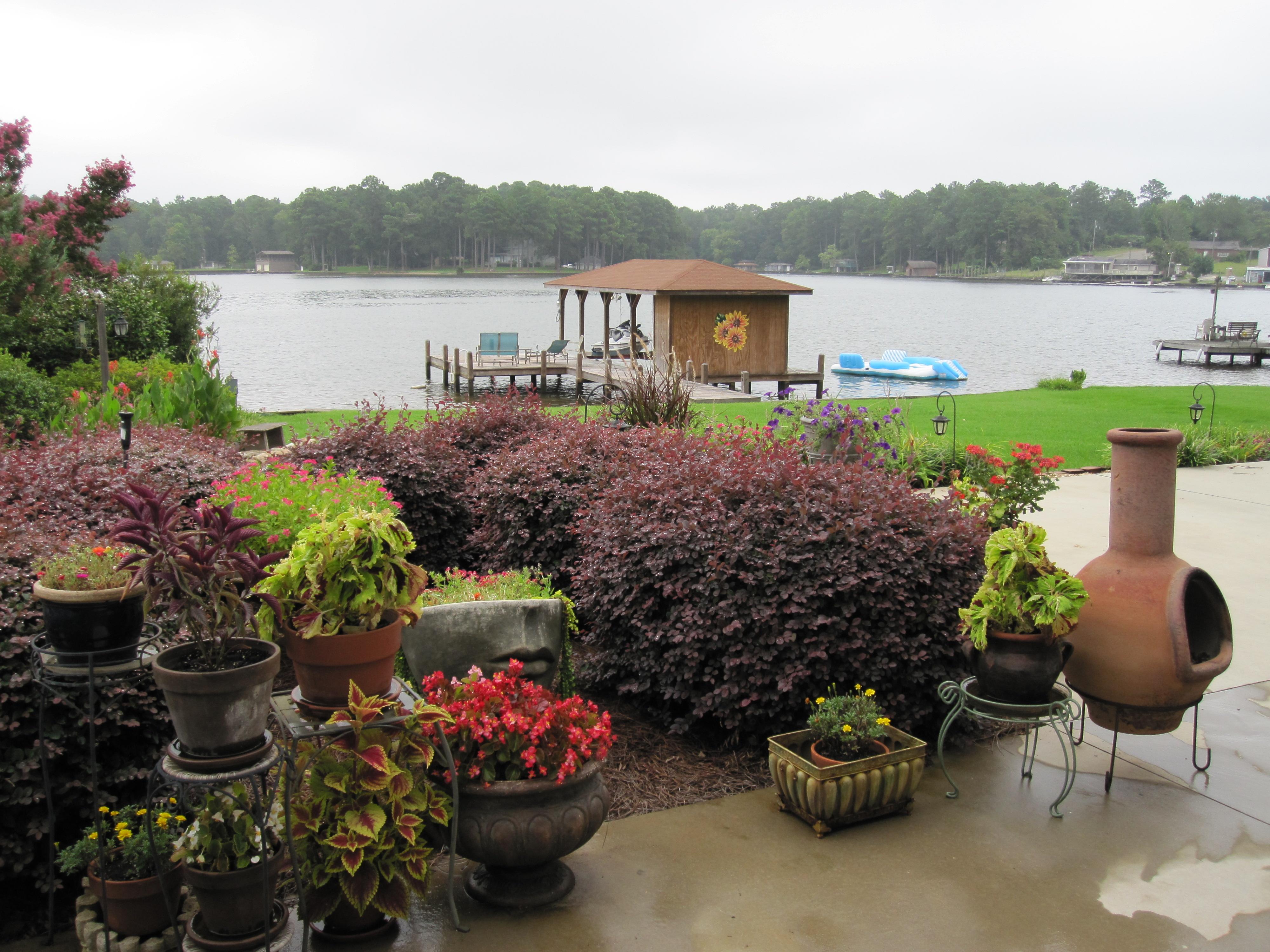 Patio lake garden