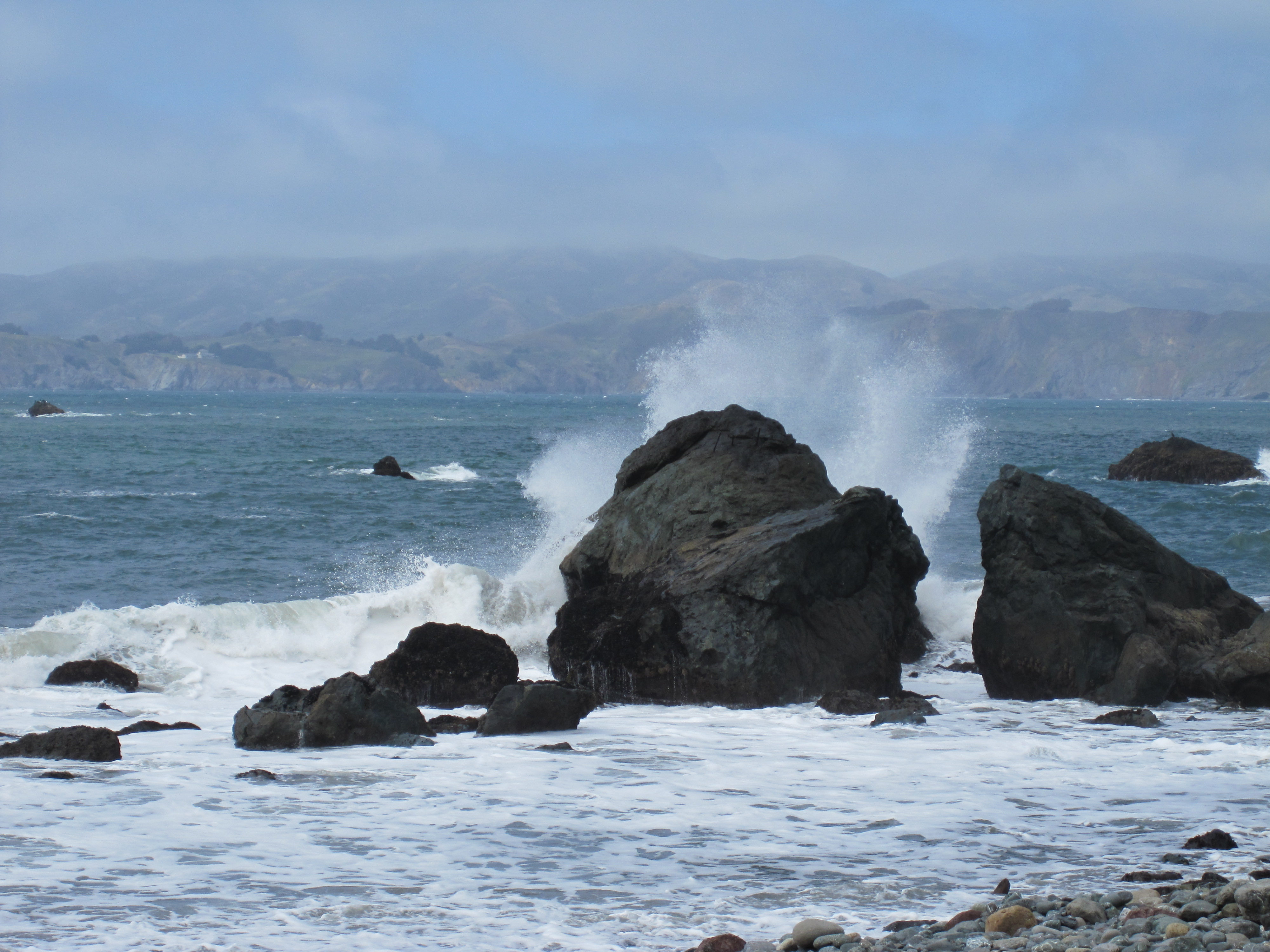 Land's End waves crashing on the beach