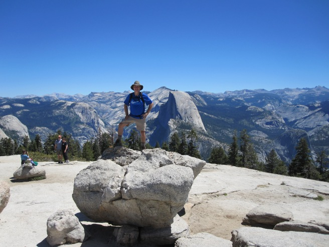 On the peak of Sentinel Dome at Yosemite