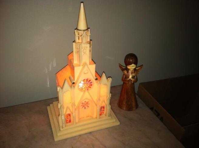 Church and angel