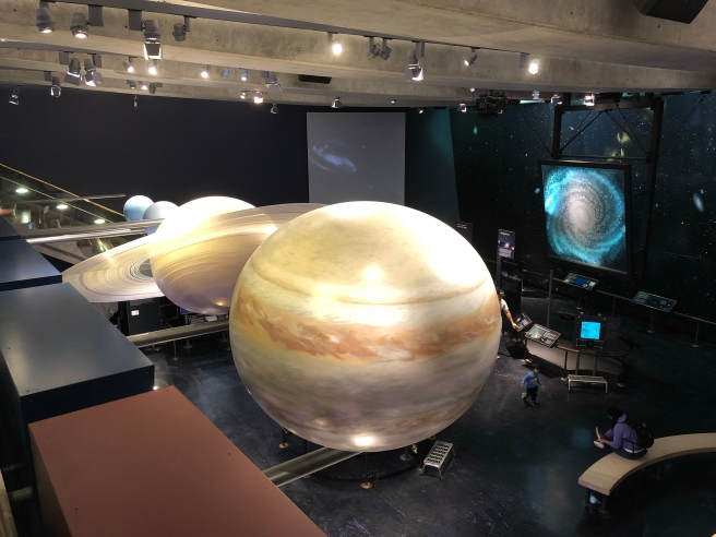 Solar system exhibit in the Griffith Observatory