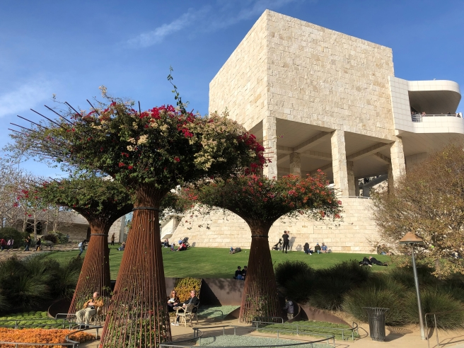 Bougainvillea arbors at the Getty Center