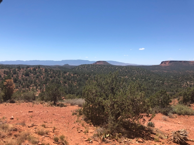 Scenic views from Devil's Bridge Trail in Sedona