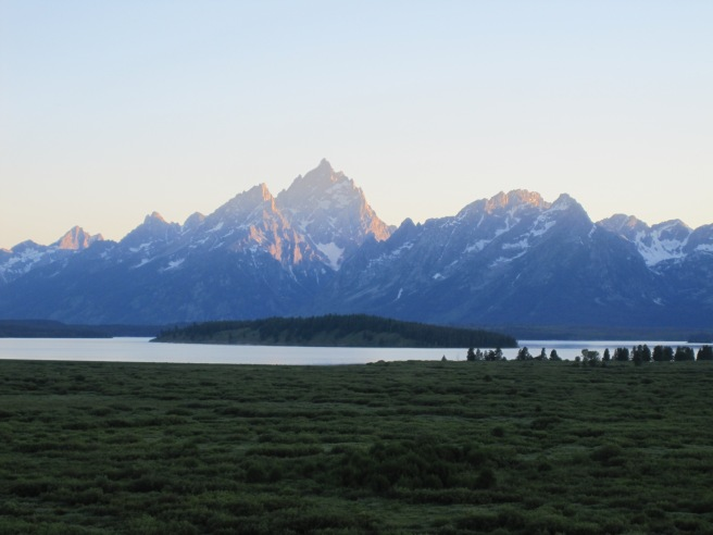Grand Tetons from Jackson Lake Lodge