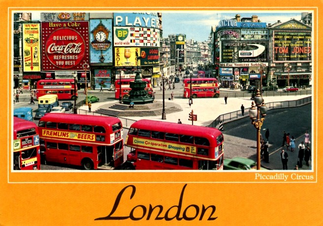 Postcard of Piccadilly Circus