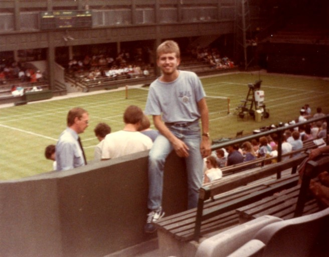 At Wimbledon - July, 1984
