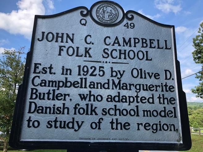 John C. Campbell Folk School historical marker