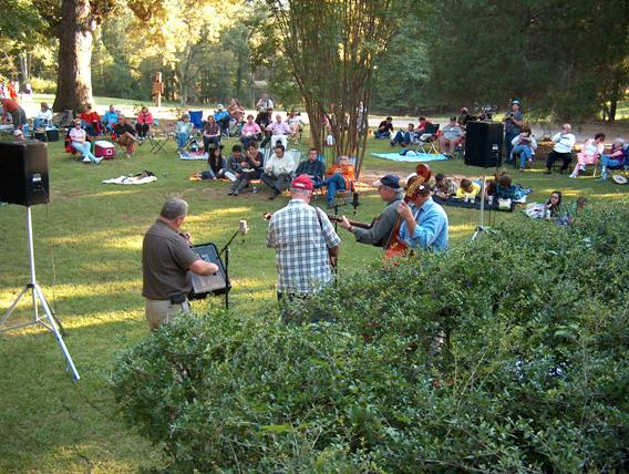 Bluegrass concert at Andalusia