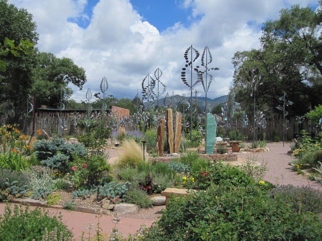 Whirligig garden in Santa Fe