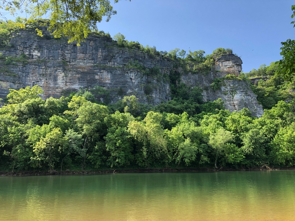 Stair Bluff at Buffalo Shoals on the White River
