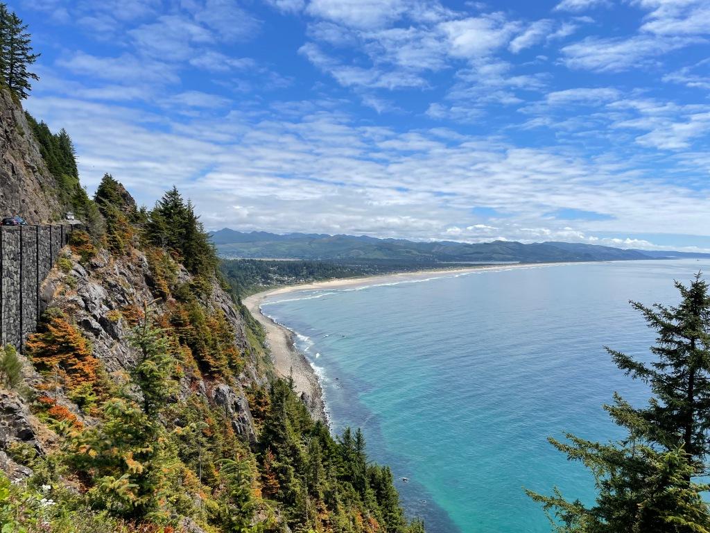 View of Manzanita Beach from Neahkahnie Mountain in Oregon